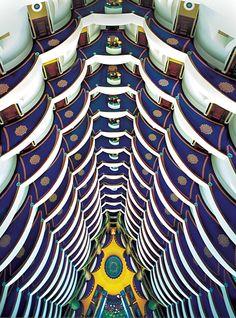 Burj al Arab Hotel Interior - the tallest hotel atrium in the world Beautiful Interior Design, Office Interior Design, Amazing Architecture, Architecture Design, Asia, Burj Al Arab, Visit Dubai, Best Hotels, Luxury Hotels