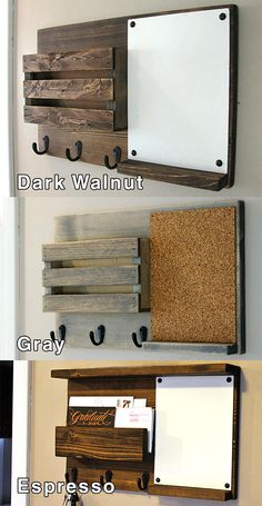 Chalkboard Mail Organizer Mail Holder Mail Rustic Organizer Key Holder Rustic Farmhouse Decor Personalized Option Available Wood Pallet Projects chalkboard decor Farmhouse holder Key mail Option organizer Personalized Rustic Wooden Pallet Projects, Diy Pallet Furniture, Diy Furniture Projects, Woodworking Projects Diy, Rustic Furniture, Pallet Ideas, Woodworking Furniture, Wood Shop Projects, Woodworking Chisels