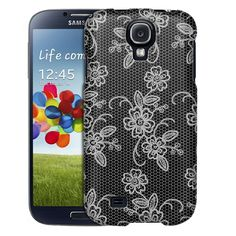 Samsung Galaxy S4 Blooming Floral Lace on Black Trans Case