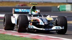 Bas Leinders in the Minardi PS04 during free practices at Magny-Cours (2004) #F1