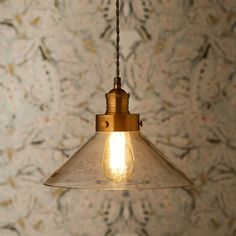 Larger Dexter pendant light with glass shade