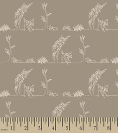 Nursery Fabric - Bambi Nursery Woodland Stripe