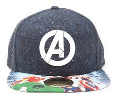 Avengers Comic Logo Cap