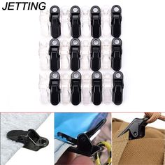5pc Awning Clamp Tarp Tie Down Clips Snap Hanger Emergency Survival Tool Kit