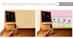 ¿Quieres ver cómo quedaría un mural o estampado en tu pared, antes de hacer la comprar? Podemos hacerlo!