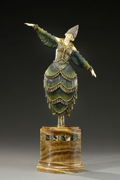 Romanian sculptor Demetre Chiparus. Animated bronze
