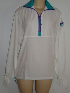 NEW Frogskin Sun Protection Shirt Jacket size XS S M Top USA MADE White Frogwear #FrogskinFrogwear #JacketwithNeckZipSuperLightweight