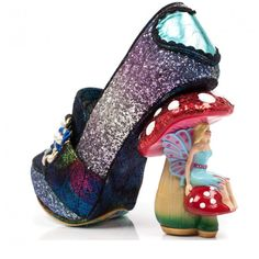 Irregular Choice 'Hazel Corntree', Faerie heel, glitter pump, blue