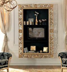 Paris collection gold rococco bookcase