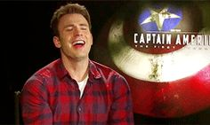 Chris Evans laughing. Because everyone needs a little more of that in their life.