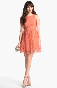 Way-In Cutout Lace Skater Dress (Juniors) available at #Nordstrom @Beth Unger