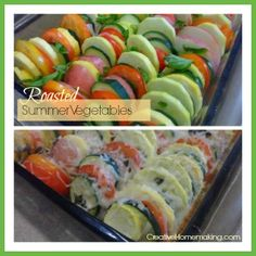 Easy summer vegetable side dish made from fresh vegetables from the garden.