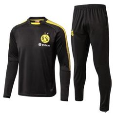 Dortmund 2017-18 Football Black Sweater Kit [L547]