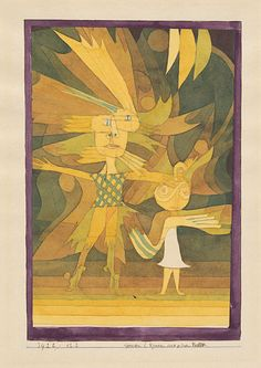 """Genii (Figures in a Ballet) Paul Klee 1922  Genius, the root of the word """"Genii"""" as used by Paul Klee in the title of this work, refers to protecting spirits in ancient Roman religion. In every person – and only in people – there dwells a genius that dies with that person.  The genius represents the personality and the capacity for procreation. This also gives rise to the word """"genius"""", which we use today to refer to creative force and the source of inspiration of a particularly gifted…"""