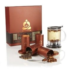 Had a family member introduce us to teavana. This gift set had everything we needed to try out the numerous teavana teas. and Gourmet Food Tea and Beverages Tea and Hot Cocoa Gifts Tea Recipes, Gourmet Recipes, Tea Gift Sets, Gift Maker, Gourmet Gifts, Food Gifts, Tea Tins, How To Make Tea, Food Themes