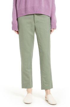 Free shipping and returns on Vince Tapered Crop Trousers at Nordstrom.com. A covert coin pockets stashes precious cargo on the front of tailored, tapered-leg trousers cut from a crisp linen-blend.