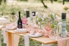 Southern Newlywed: Tips for Hosting Easter Brunch - Southern Weddings Mason Jar Centerpieces, Mason Jars, Wedding Centerpieces, Brunch Table Setting, Easter Lunch, Wedding Weekend, Wedding Fun, Wedding Decor, Wedding Stuff