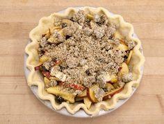 How to make Blueberry Nectarine Pie via @kingarthurflour