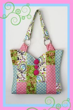 Quilt bag with pattern