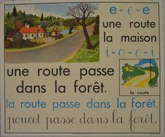 Vintage childrens room decor. Vintage French School Posters