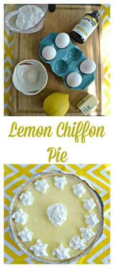 Want to know the secret to my flavorful and light as air Lemon Chiffon Pie? Click the link to find out what it is! Easy Desserts, Delicious Desserts, Yummy Food, Dessert Dishes, Dessert Recipes, Lemon Chiffon Pie, Good Pie, Best Pie, Homemade Pie Crusts