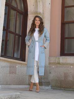 Loose Jacket - Blue - ÂRÂ Zeynep Bilyay
