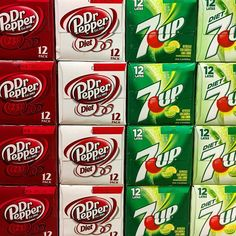 Dr Pepper or 7-UP normal or light... #soda #drpepper #drpepperdiet #7up #7updiet #qfc #bethanyqfc #tomuchchoice #portland #oregon #usa