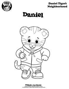 daniel tiger coloring pages | Daniel Tiger coloring page. Coloring pages are a great campsite ...