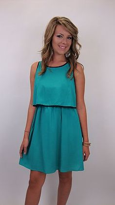 For sorority rush, football games or picking the kids up at carpool, this easy dress is your answer to prayer! $42