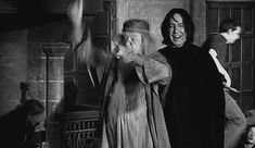 Dumbledore dancing with Snape: