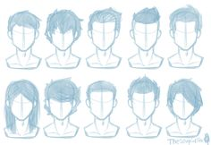 Random Hairstyles Male by TheStupidFox.deviantart.com on @DeviantArt