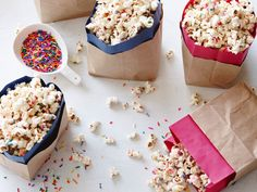 Birthday White Chocolate Popcorn recipe from Food Network Kitchen via Food Network
