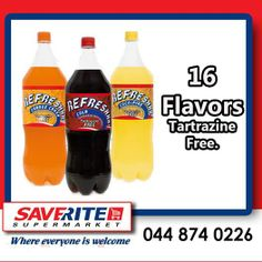 Visit the Saverite Supermarket York Street Wall of flavor with Refreshhh soft drinks. 16 flavors to choose from and all Tartrazine free. #softdrinks #groceries #supermarket