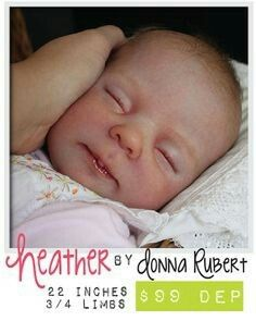 Heather by Donna Rubert, love this kit so much! Little Babies, Baby Kids, Tedy Bear, Baby Pop, Realistic Baby Dolls, Lifelike Dolls, Reborn Baby Dolls, Hello Dolly, Baby Sleep