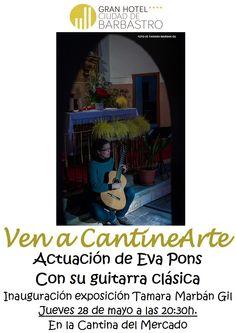 Cartel actuación Eva Pons. Exposición Tamara Marban Gil. Vena CantineArte