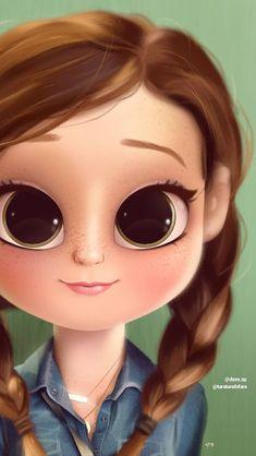 Reminds me of my twinsie. Cute Girl Drawing, Cartoon Girl Drawing, Cartoon Drawings, Cartoon Art, Drawn Art, Cute Cartoon Girl, Girly Drawings, Cute Girl Wallpaper, Digital Art Girl
