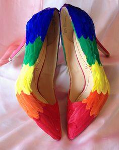 70% SALE!!! Chakra High Heel (red, orange, yellow, green, blue, purple) by Vespetta on Etsy https://www.etsy.com/listing/185343659/70-sale-chakra-high-heel-red-orange