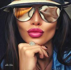 Image about hair in Girls by Yoshii on We Heart It Image in Girls collection by Yoshii on We Heart I Digital Art Girl, Digital Portrait, Portrait Art, Girl Cartoon, Cartoon Art, Art Beauté, Pop Art Girl, Cute Girl Drawing, Pop Art Drawing