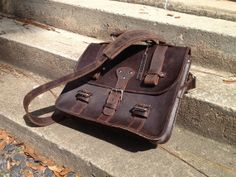 Handmade Leather Messenger Bag by AnchorLeatherCo on Etsy, $265.00