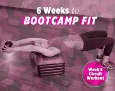6 Weeks to Bootcamp Fit: Week 5 Strength Circuit Workout http://www.womenshealthmag.com/fitness/six-weeks-to-bootcamp-fit-week-5-workout