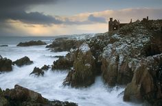 "pagewoman: ""  Slains Castle, Cruden Bay, Aberdeenshire, Scotland. by Michael Fellowes """