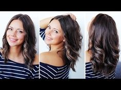 How To Curl Short/Medium Hair With A Straightener - YouTube