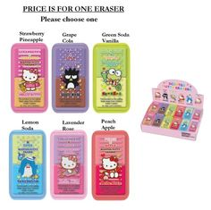 Sanrio Assorted Characters 2C Scented Putty Erasers