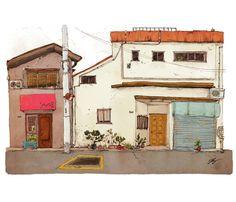 Tokyo Street 4, an art print by Qin Leng - INPRNT