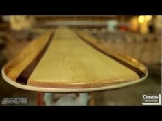 Pay a visit to a couple of guys in York, Maine who are using age-old boat building techniques to build wooden surfboards.