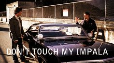 67 Chevy Impala Supernatural   Supernatural '67 Chevy Impala Llavero Dean Sam Winchester