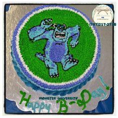 Bizcocho Monster University by Jessica Vargas  en J&R Creations (787)217-2735 (monster James P. Sullivan)