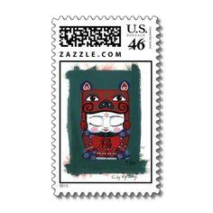Piggy Baby Postage Stamps  #ARTSPROJEKT