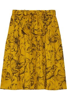 38b58dd0c85 Moschino Cheap and Chic Floral-embroidered cotton skirt Katoenen Rok,  Moschino