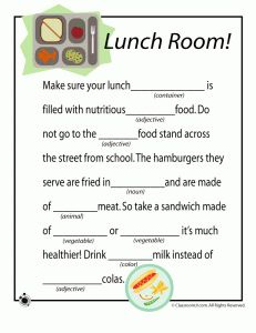 School Themed Mad Libs - - Pinned by #PediaStaff.  Visit http://ht.ly/63sNt for all our pediatric therapy pins